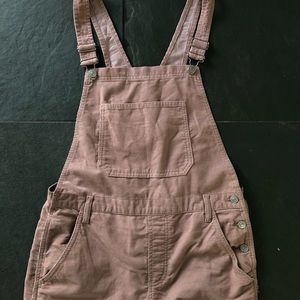 TopShop pink cord dungarees pale pink
